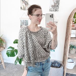Anthropologie Moth Gray Empyreal Cardigan Shawl